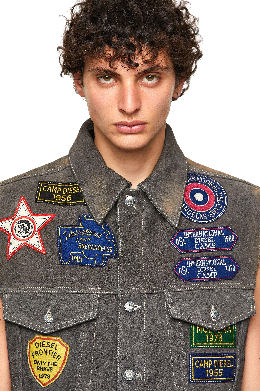 Diesel - DxD-4, Dark grey - Leather jackets - Image 5