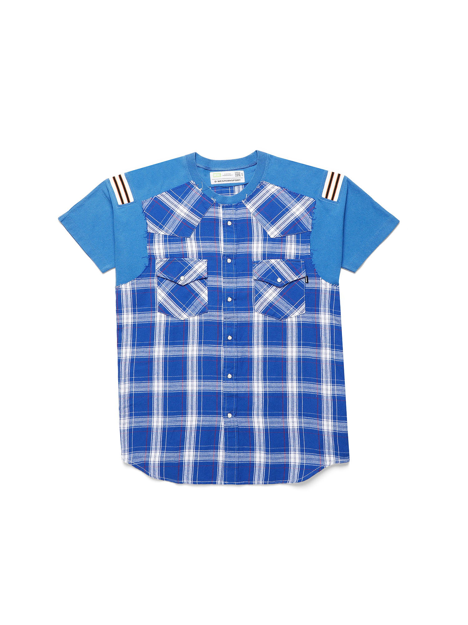 Diesel - D-WESTERNSPORT, Light Blue - T-Shirts - Image 1