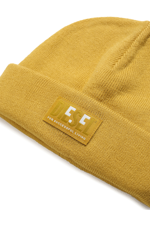 Diesel - K-XAU B, Yellow - Knit caps - Image 3