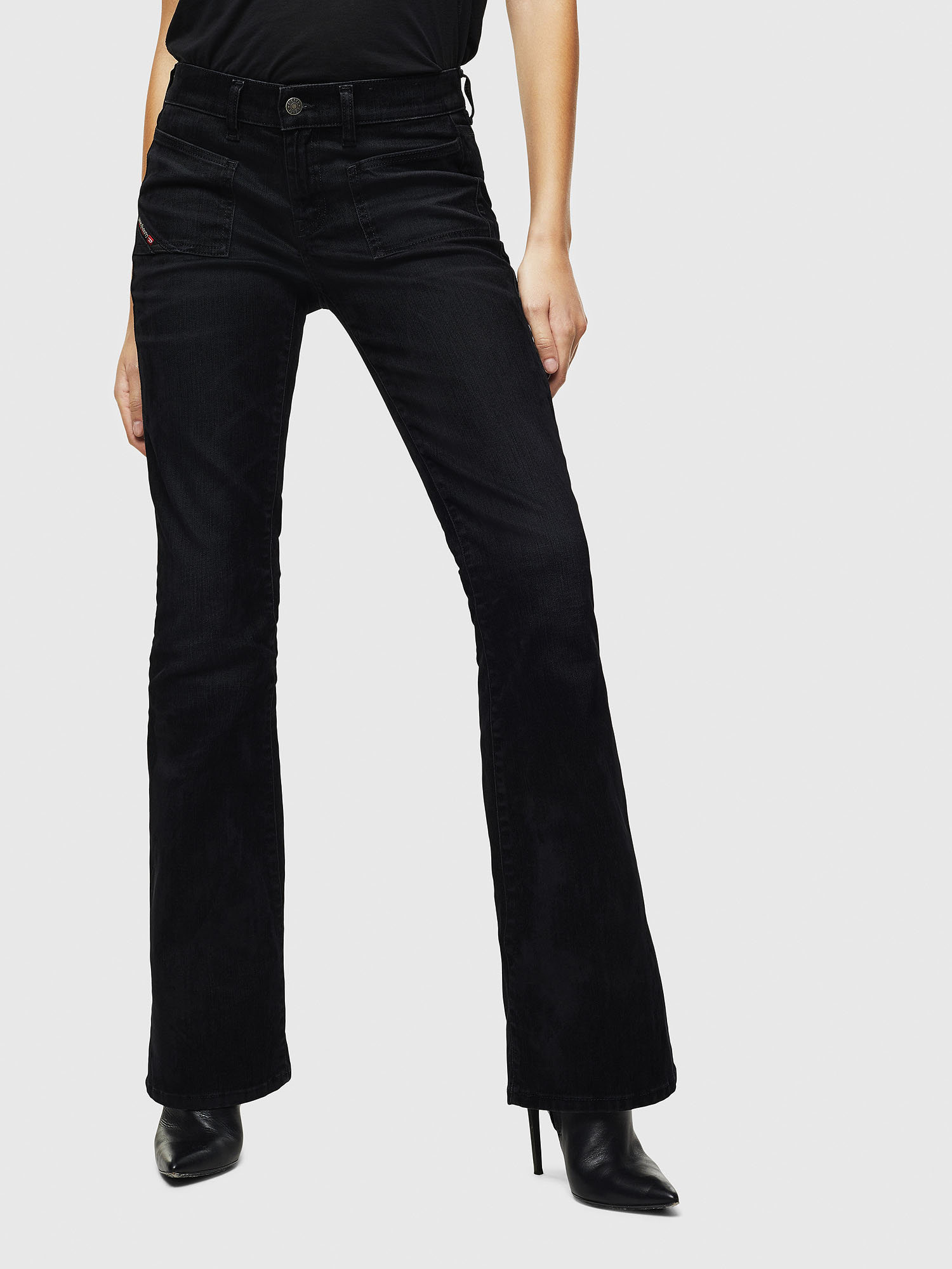 Diesel - D-Ebbey 0091I, Black/Dark grey - Jeans - Image 1