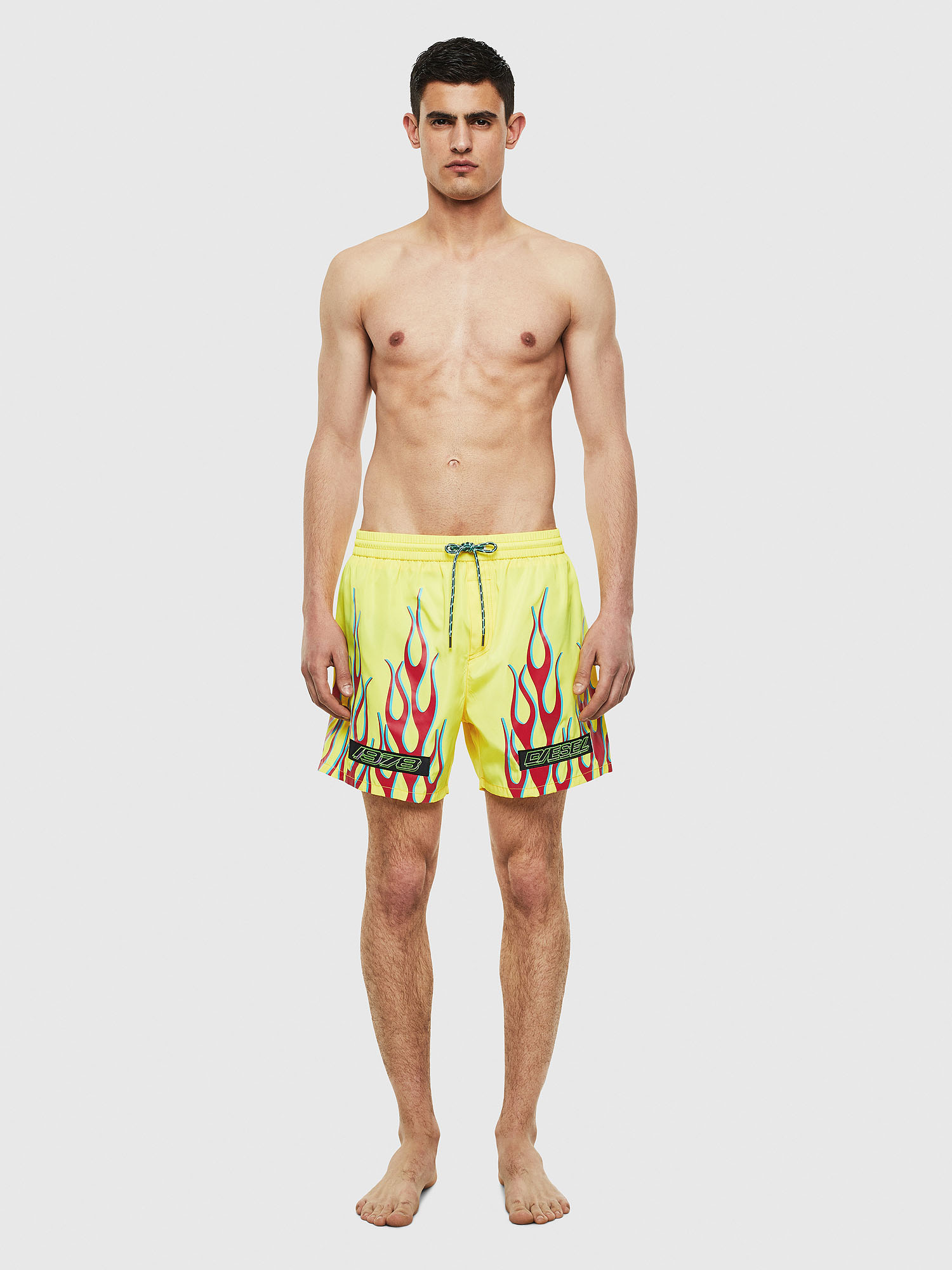 Diesel - BMBX-WAVE 2.017, Green Fluo - Swim shorts - Image 1