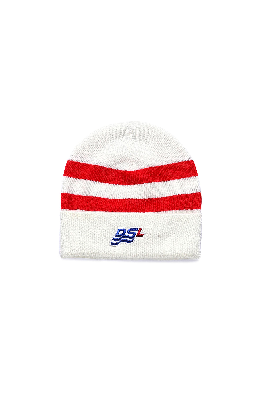 Diesel - K-MIDLAND, White/Red - Knit caps - Image 1