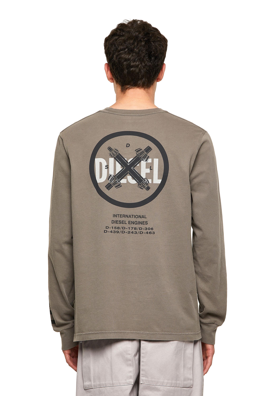 Diesel - T-JUBINDY-LS, Olive Green - T-Shirts - Image 2