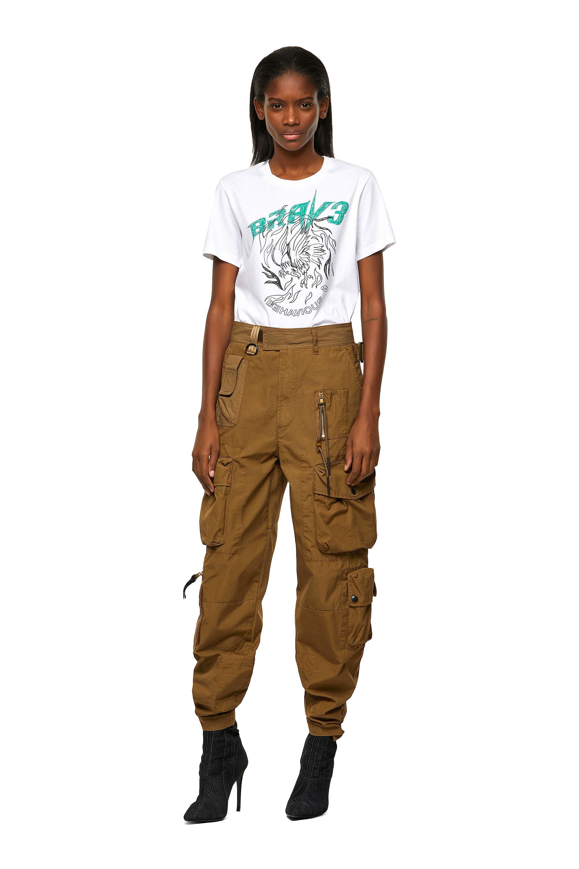 Diesel - P-GAGE, Light Brown - Pants - Image 8
