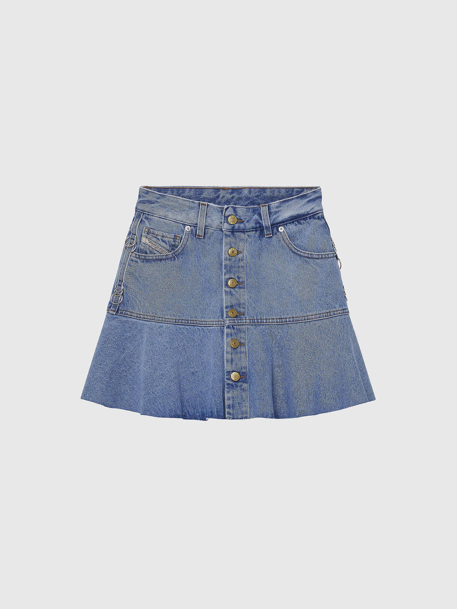 Diesel - DE-BETHY, Light Blue - Skirts - Image 1