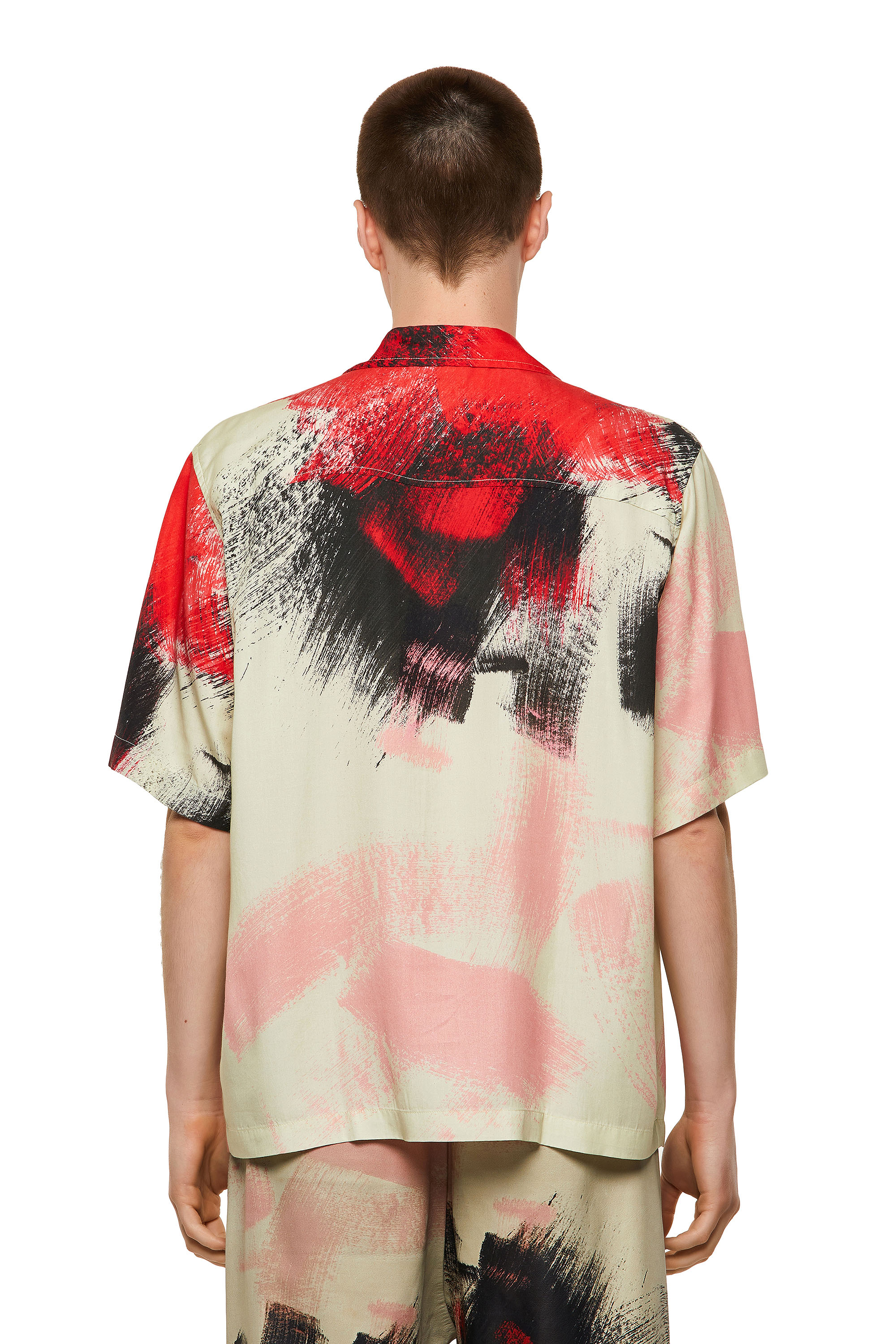 Diesel - S-WOLF-ALL, Red/White - Shirts - Image 2