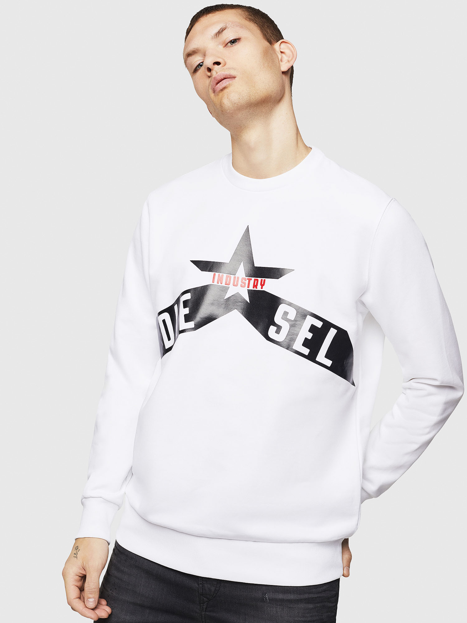 Diesel - S-GIR-A2, White - Sweaters - Image 1