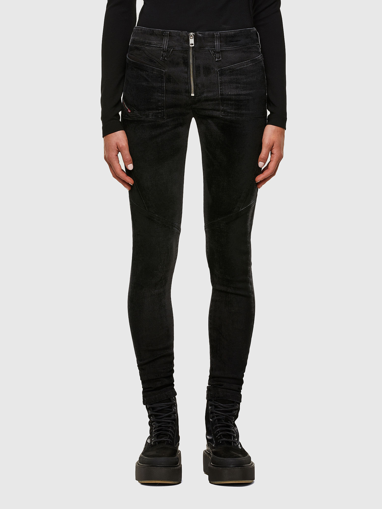 Diesel - Slandy 069TC, Black/Dark grey - Jeans - Image 1
