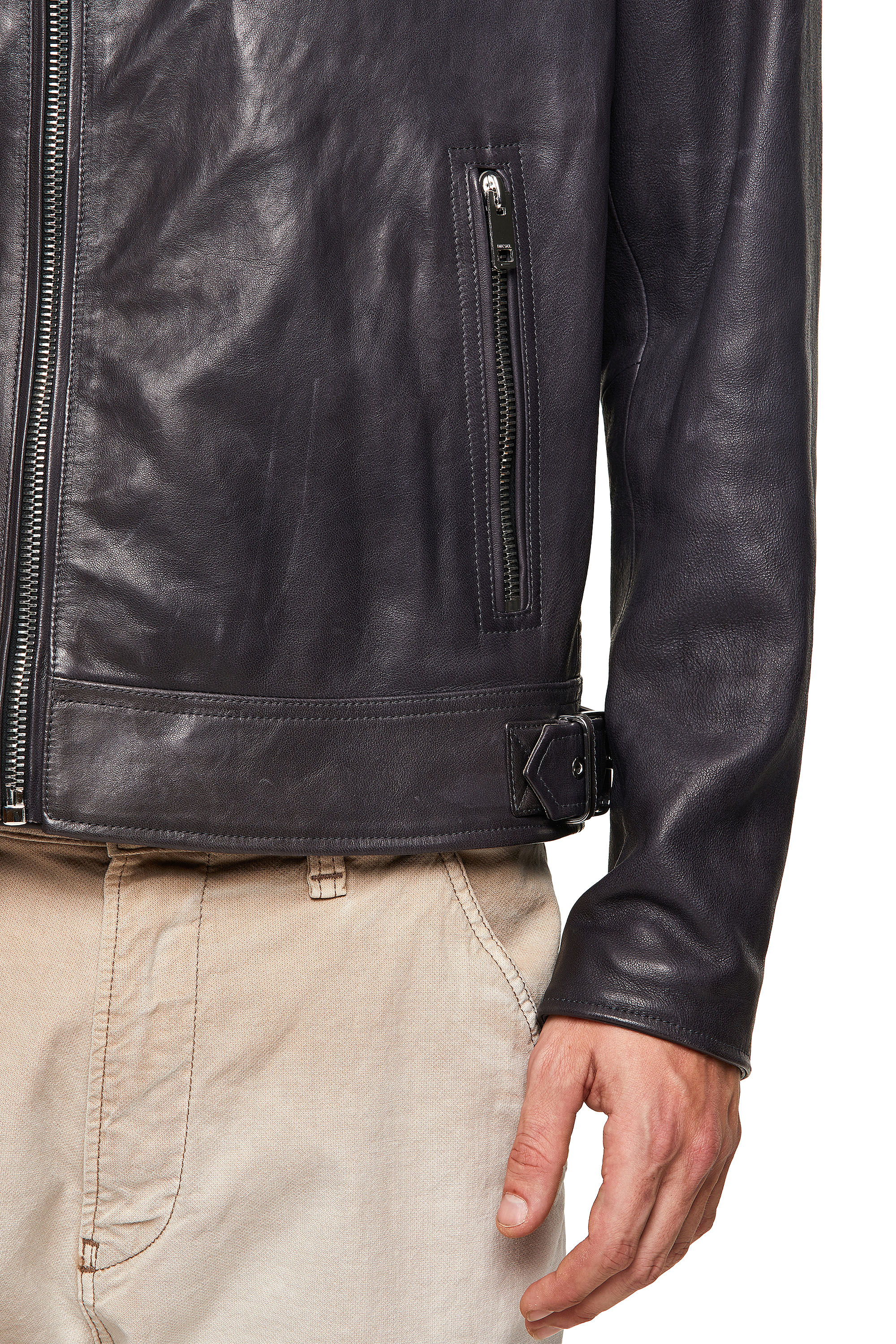 Diesel - L-CODY-NEW, Black - Leather jackets - Image 3