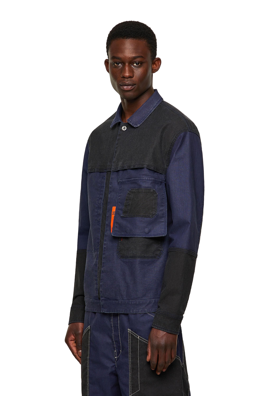 Diesel - D-FETZ-SP JOGGJEANS, Black/Blue - Denim Jackets - Image 4